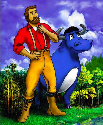 timepassages   tall tales paul bunyan clip art free black and white paul bunyan and babe clipart